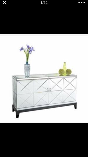 Large Mirrored Harlow Cabinet/TV Stand for Sale in Washington, DC
