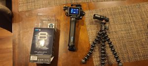 Like new GoPro Hero8 Black with accessories for Sale in Rancho Cucamonga, CA