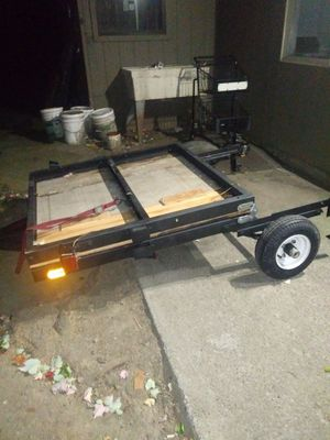 4×8 folding trailer w/ wood bed for Sale in Portland, OR