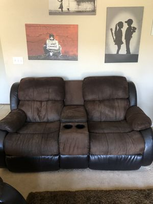 Couch with Recliner for Sale in San Jose, CA