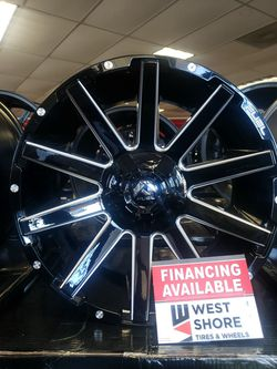 "20x9 20"" 5×114.5- 5x127 +1 ,78.1cb Fuel Wheels D615 Gloss Black/Mill Tires Available Jeep TJ JK Wrangler Cherokee Stock Lifted for Sale in Bellflower,  CA"