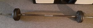 Fixed 50 lbs with weight bar for Sale in Columbus, OH