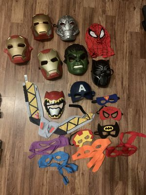 Superhero mask lot for Sale in San Diego, CA