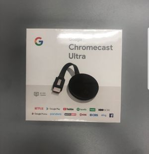 New and sealed!!!!Chromecast ULTRA Google TV - 4K . Pick up only for Sale in West Hollywood, CA