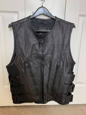 Large Leather Motorcycle Vest for Sale in Tampa, FL