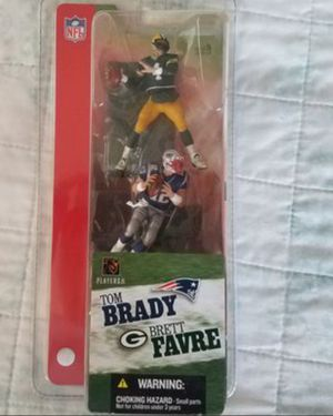 Tom Brady and Brett Favre NFL collectable toy figures. for Sale in Stockton, CA