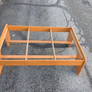 Toddler wooden bed frame (no mattress) - FREE for Sale in Indianapolis, IN