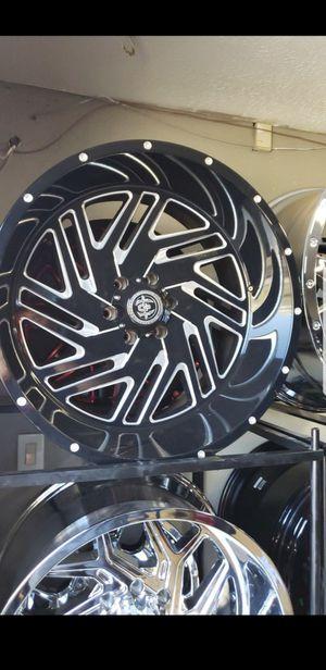 22x12 black hardcore rims 6 lug 6x139 whit New MUD tires 33 1250 22 for Sale in Phoenix, AZ