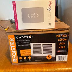 Cadet Fan Forced Heater, And MySa Smart Thermostat New (Read Full Description ) for Sale in Auburn,  WA