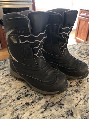 LLBean snow boots size 13 kids for Sale in Burlington, MA