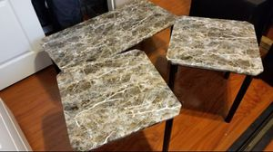 Faux Marble Coffee Table and End Tables for Sale in Phoenix, AZ