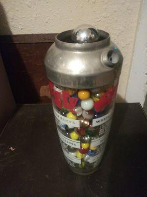 Vintage drink shaker full of vintage marbles for Sale in Snohomish, WA