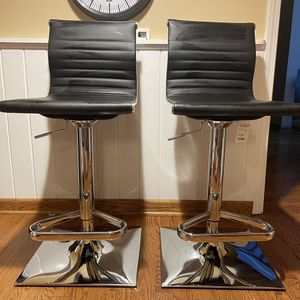 Adjustable Leather/Metal Bar Chairs for Sale in Royal Oak, MI