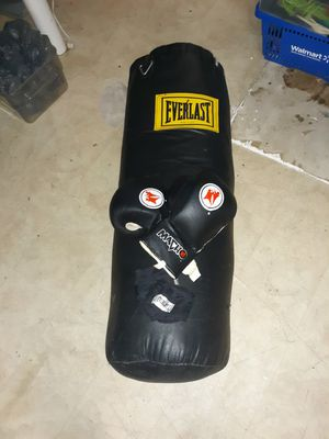 Everlast Boxing Bag (w/gloves) for Sale in Barnhart, MO