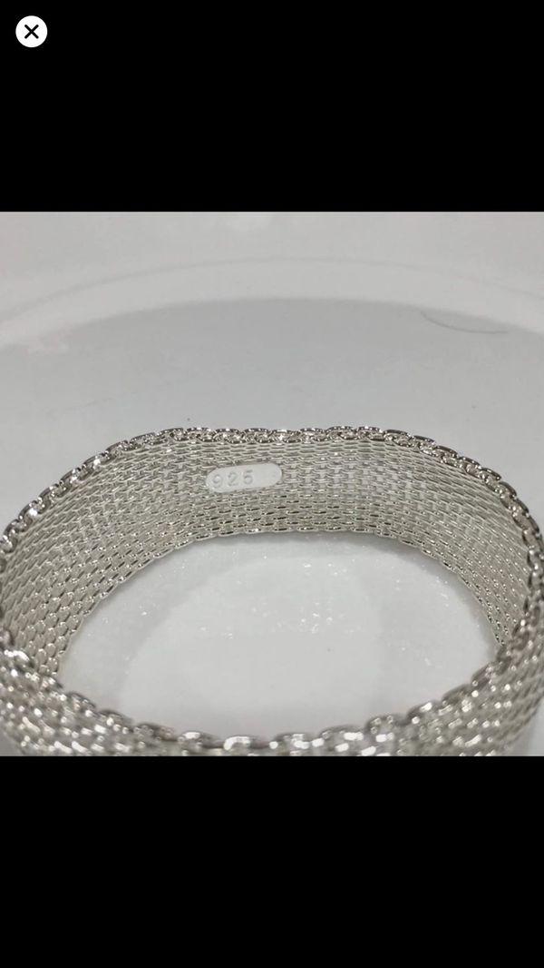 Sterling silver plated 925 stamped bangle bracelet