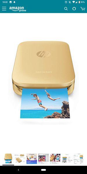 Gold HP Sprocket portable photo printer for Sale in Scottsdale, AZ