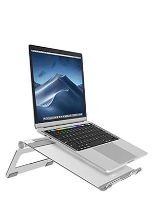 Nulaxy Adjustable Laptop Stand, Laptop Riser, Aluminum Notebook Holder Stand Compatible with MacBook, Air, Pro, Dell XPS, HP, Samsung, Alienware, Mor for Sale in Las Vegas, NV