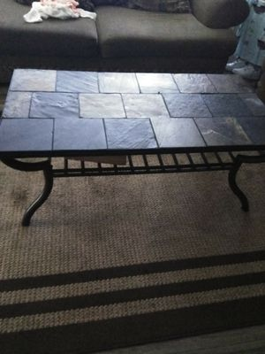 Stone coffee table /matching end table stones are interchangeable for Sale in Lompoc, CA