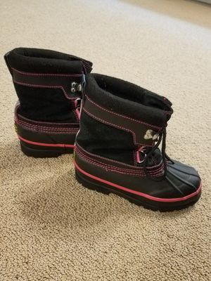 Snow boots size 1 youth girl for Sale in Gilbert, AZ