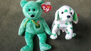 Killarney and blarn-e beanie babies stuffed animals for Sale in Denver, CO