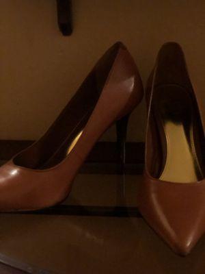 Ralph Lauren Sarina Polo Tan Kidskin Heels Size 10 for Sale in Spring Hill, FL