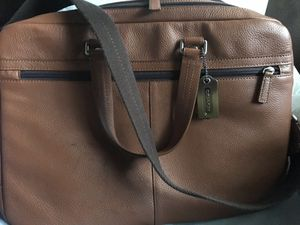 Men's coach bag. Tan leather for Sale in Boston, MA