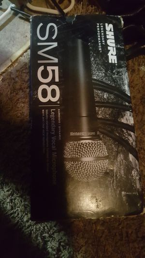 Shure SM58 microphome for Sale in Oklahoma City, OK
