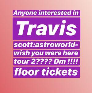 Travis Scott Tickets for Sale in Manassas, VA
