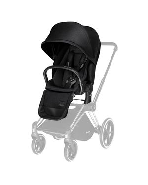 CYBEX Priam Stroller with Chrome/Black Frame and Priam Lux Seat in Black for Sale in Lake Forest, CA