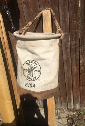 36 inch waist it is a lineman's belt with detachable clean bags in a 5 gallon leather burlap Klein bag for Sale in Redford Charter Township, MI
