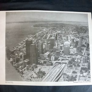 Vintage Framed Photo Of Downtown Seattle. for Sale in Tacoma, WA