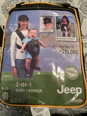 Jeep 2 in 1 baby carrier for Sale in Gilbert, AZ