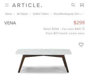 Article Furniture coffee table for Sale in Eastvale, CA