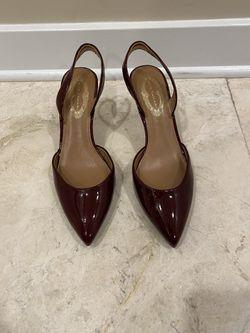 Elie Tahari Sangria Patent Leather Slingback Heels Size 37.5 (7.5) for Sale in Great Falls,  VA
