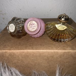 Bundle- Avon Vintage Perfumes, Minuette 30% Full, Somewhere Cologne Empty 0% Just Bottle, Elusive 70% Full for Sale in Boring, OR