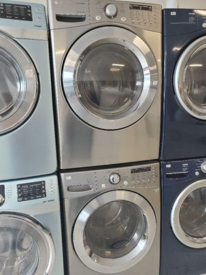 Lg front load washer and gas dryer set used in good condition with 90 day's warranty for Sale in Mount Rainier, MD