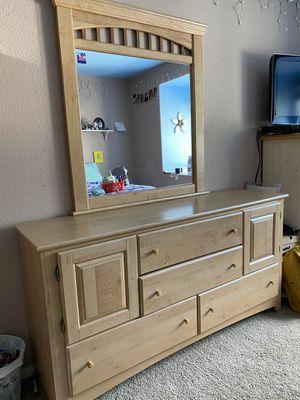 Dresser with Mirror for Sale in Visalia, CA