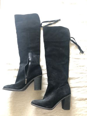 Black suede over the Knee boots Women's Size 12 for Sale in Farmington Hills, MI
