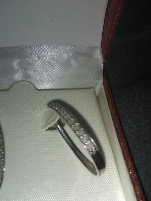 Sterling silver earrings with diamonds for Sale in Tacoma, WA