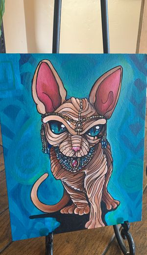 King Kitty original painting for Sale in Los Angeles, CA