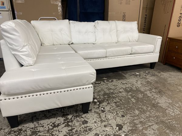 New Leather Sectional Couch /$50 down