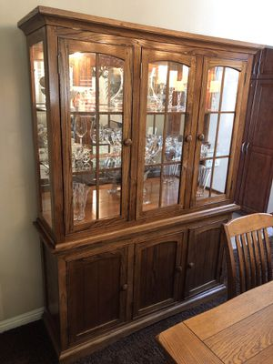 Solid Wood China Closet for Sale in Palm Desert, CA