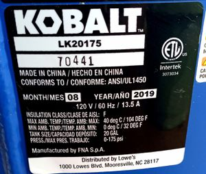 Cobra 20 gallon air compressor for Sale in Clemson, SC