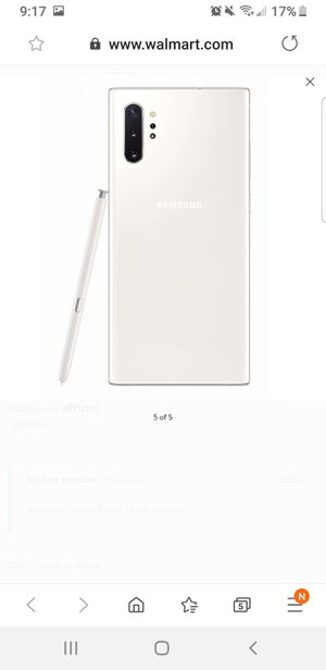 Samsung Note 10+ N975 256GB Duos GSM Unlocked Android Phone - Aura White for Sale in San Jose, CA