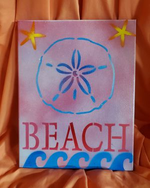 """Handmade Beach Stretched Canvas Art 11""""×16"""" for Sale in Port St. Lucie, FL"""