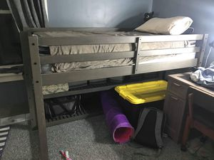 Bed frame with ladder & Mattress (Twin) for Sale in Chicago, IL