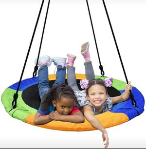 Detachable Swing Sets for Kids Playground Platform Saucer Tree Swing Rope 1M 40'' Diameter for Sale in Orlando, FL