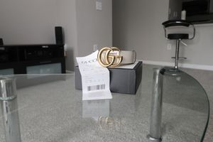 Gucci belt ivory size 28-30 for Sale in Dallas, TX
