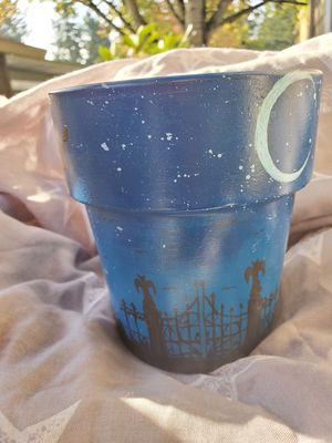 Halloween scene painted flower pot for Sale in Oregon City, OR