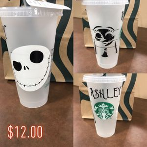 Nightmare before Christmas themed Venti Starbucks Plastic Cup for Sale in Litchfield Park, AZ